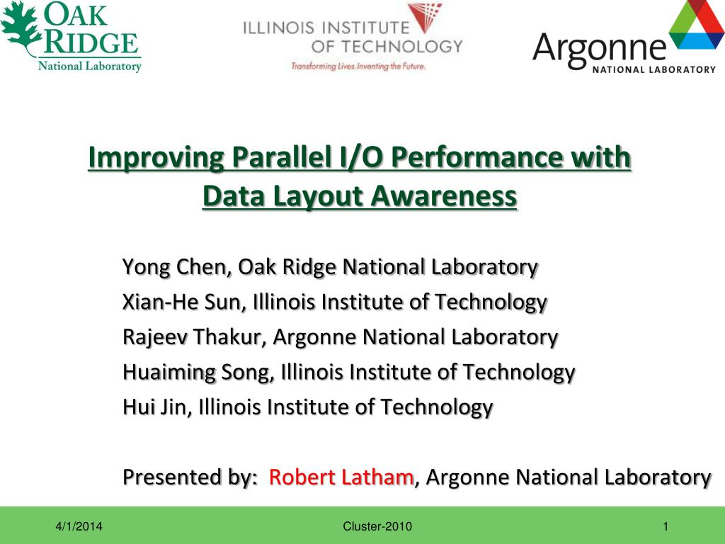 improving parallel i o performance with data layout awareness l.