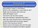 exercise d1