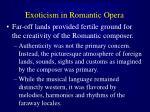exoticism in romantic opera