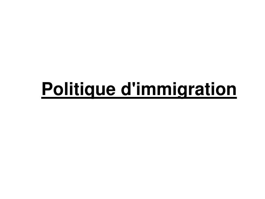 Politique d'immigration