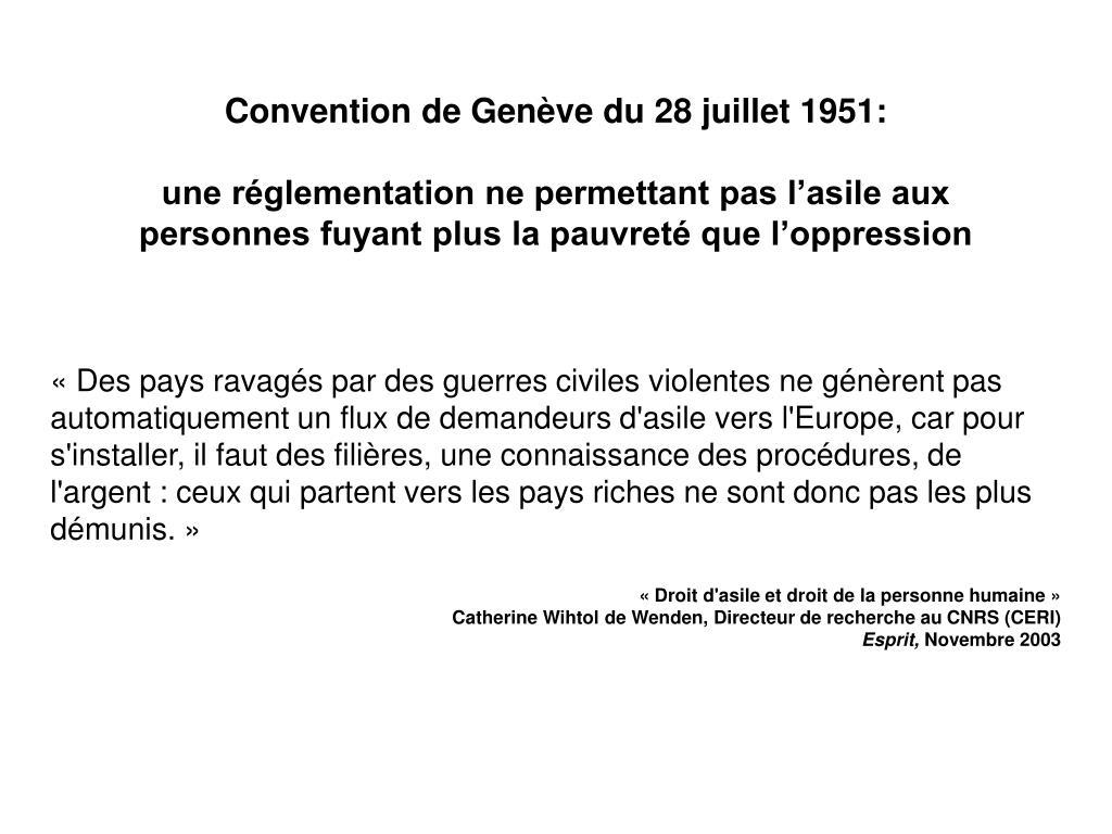 Convention de Genève du 28 juillet 1951: