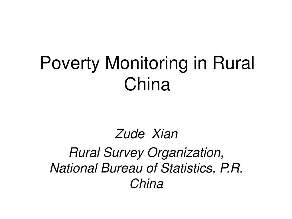 poverty monitoring in rural china l.