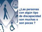 las personas con alg n tipo de discapacidad son muchas o son pocas