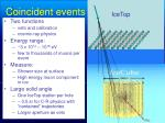 coincident events