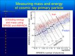 measuring mass and energy of cosmic ray primary particle