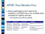 apnic non member fees