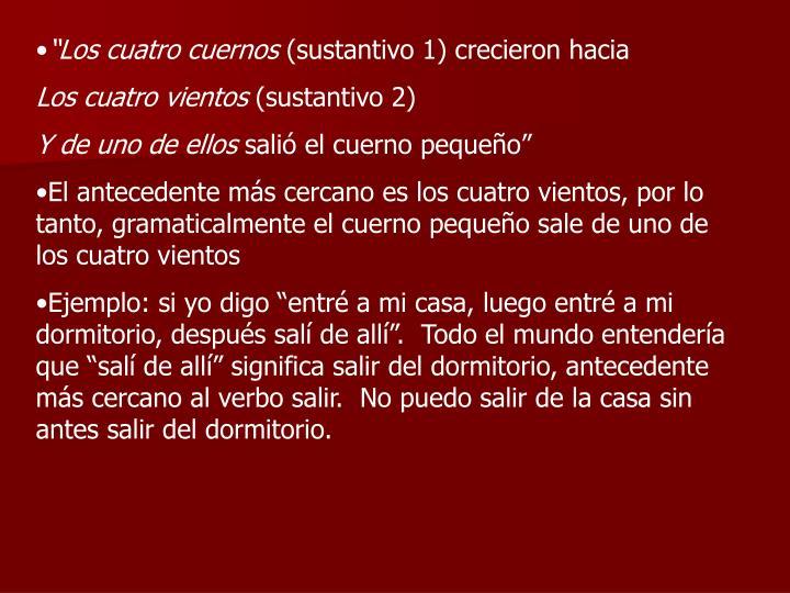 """""""Los cuatro cuernos"""