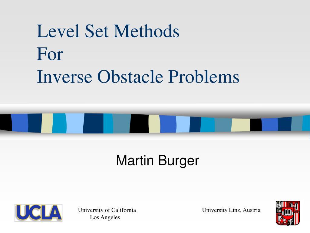 level set methods for inverse obstacle problems l.