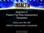 alicia levin rn ms vanod implementation coordinator