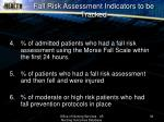fall risk assessment indicators to be tracked36
