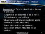 fall risk assessment template