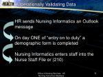 operationally validating data