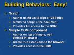 building behaviors easy