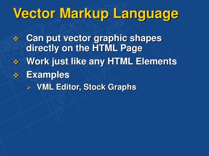 Vector Markup Language