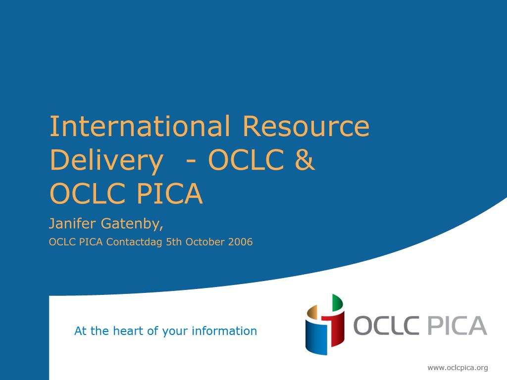 international resource delivery oclc oclc pica l.