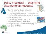 policy changes incoming international requests