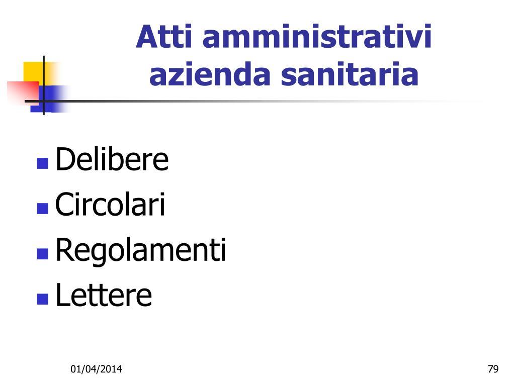 Atti amministrativi