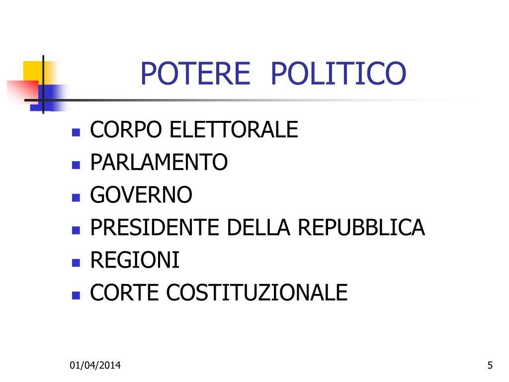 POTERE  POLITICO