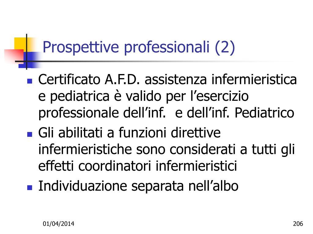 Prospettive professionali (2)