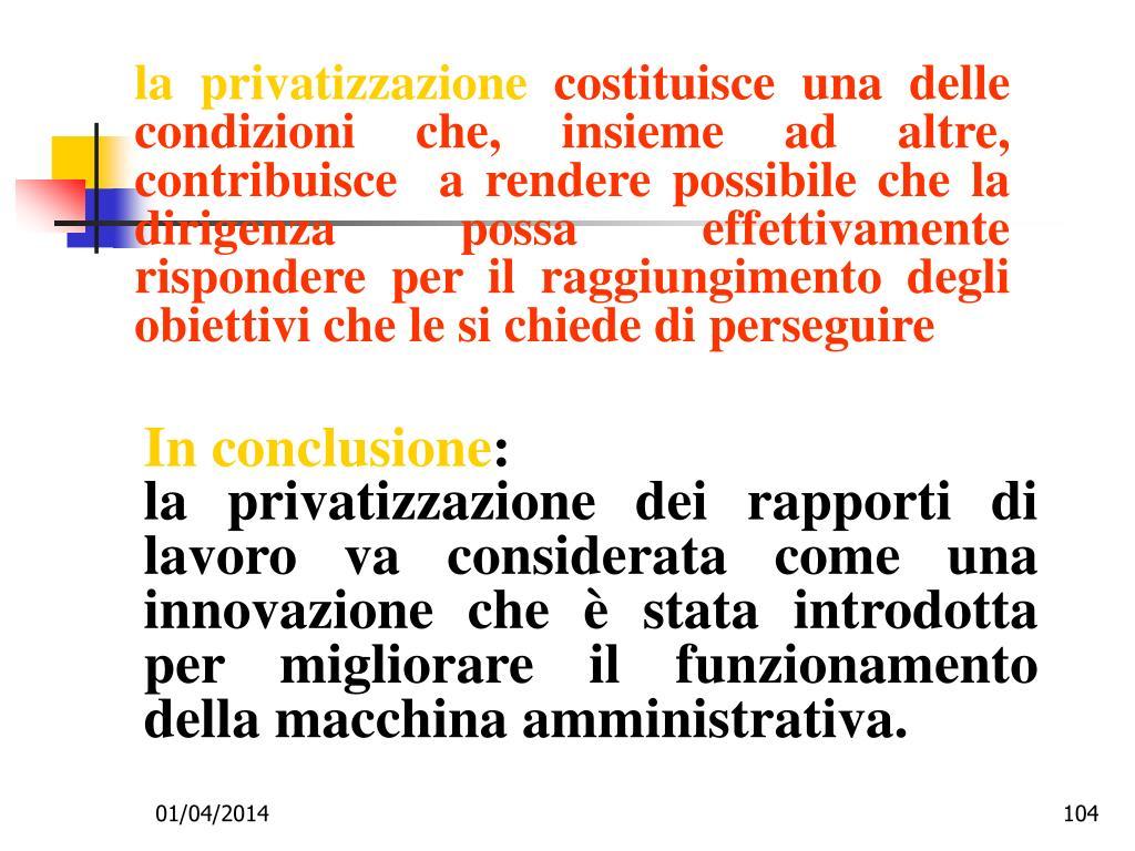 la privatizzazione