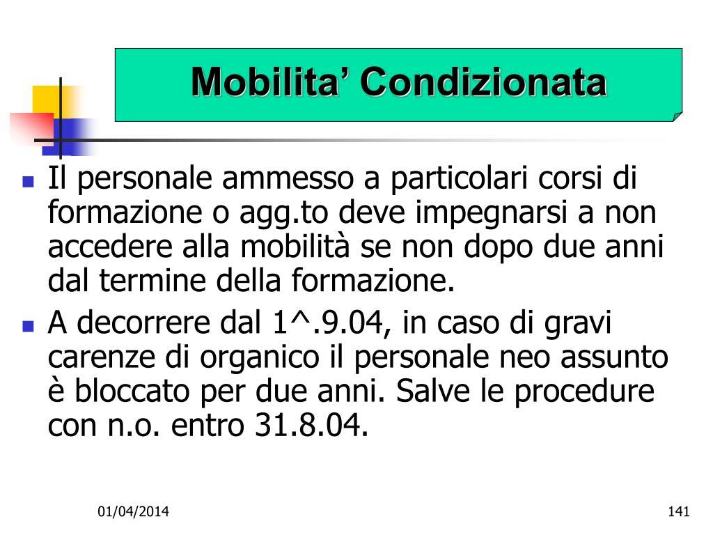 Mobilita' Condizionata