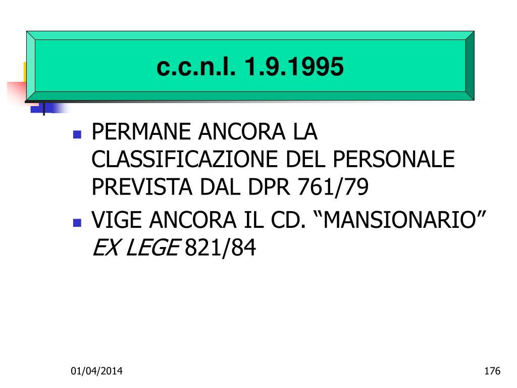 c.c.n.l. 1.9.1995