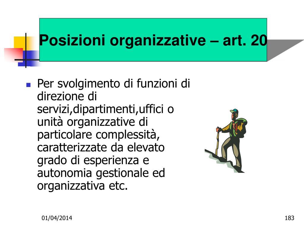 Posizioni organizzative – art. 20