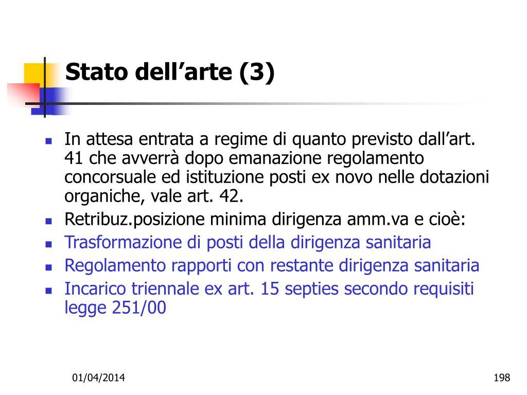 Stato dell'arte (3)