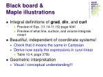 black board maple illustrations