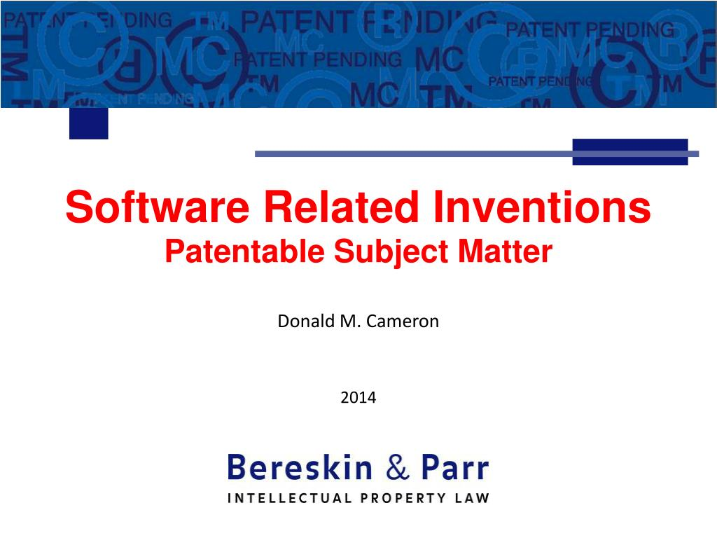 software related inventions patentable subject matter l.