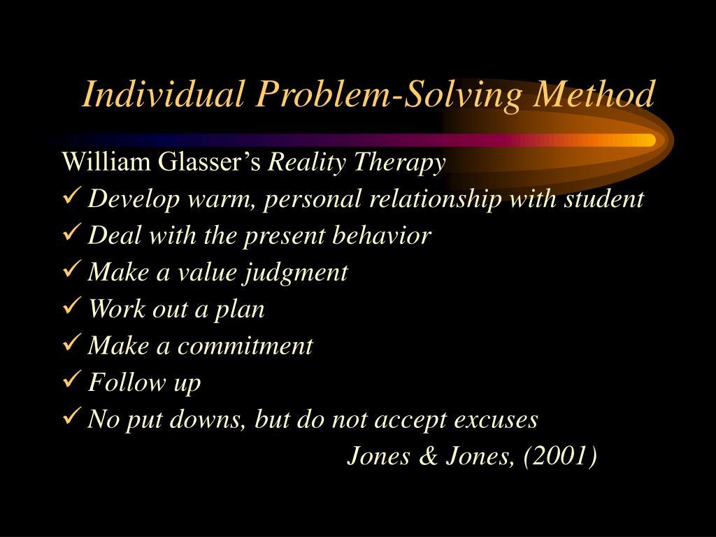 individual problem solving report