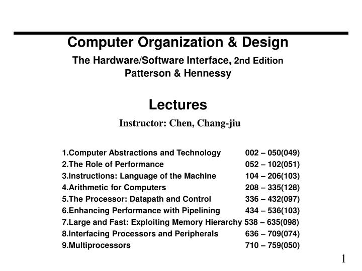 Ppt Computer Organization Design The Hardware Software Interface 2nd Edition Patterson Hennessy Lectures Inst Powerpoint Presentation Id 581502