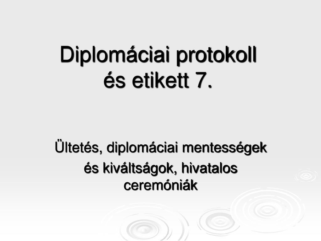 Diplomáciai protokoll