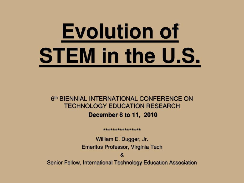 evolution of stem in the u s l.