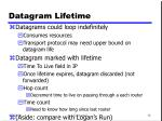 datagram lifetime