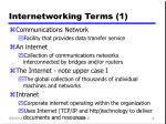 internetworking terms 1