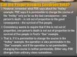 can the proportionality condition help