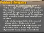 problem 3 relevance