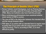 the principle of double effect pde