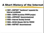 a short history of the internet1