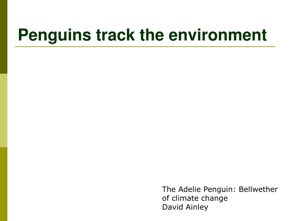 Penguins track the environment