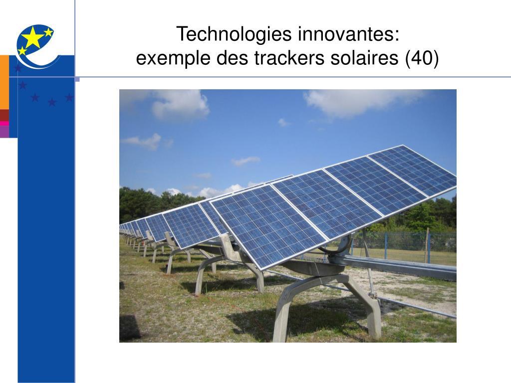 Technologies innovantes: