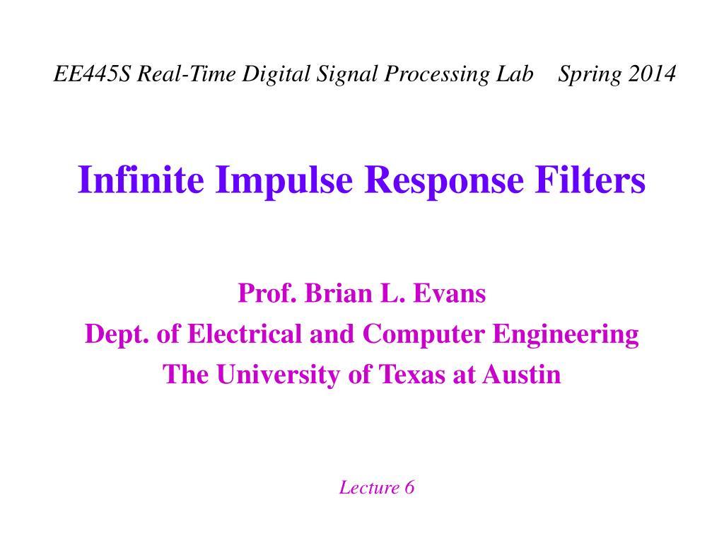 infinite impulse response filters l.