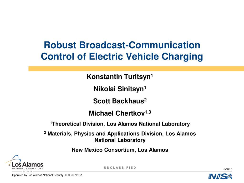 robust broadcast communication control of electric vehicle charging l.