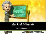rocks minerals notes pages 4 11