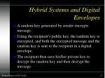 hybrid systems and digital envelopes