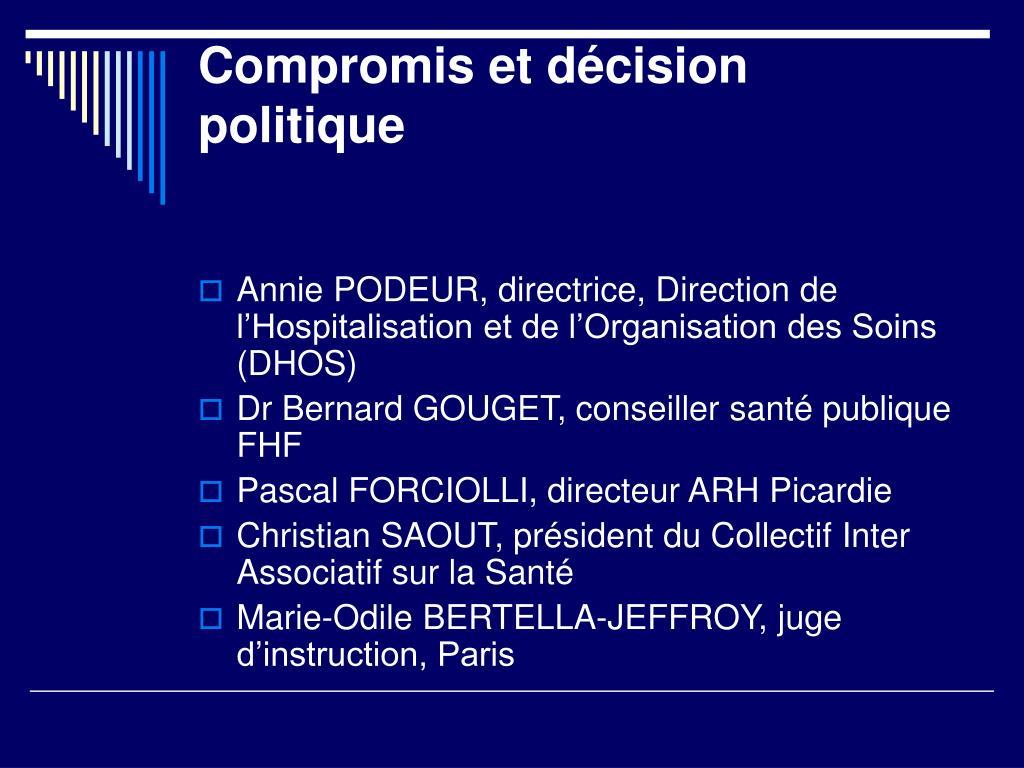 Compromis et décision politique