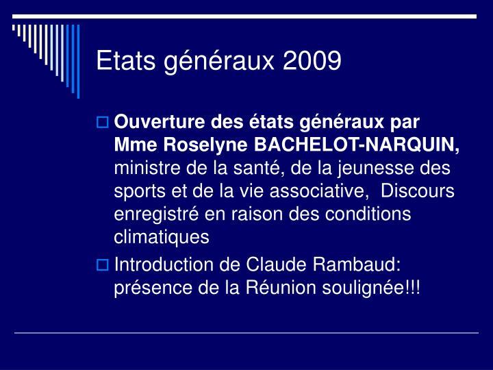 Etats g n raux 2009