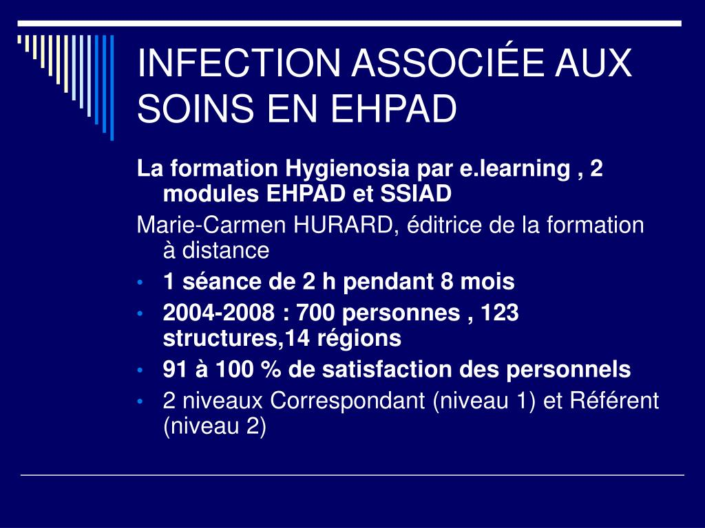 INFECTION ASSOCIÉE AUX SOINS EN EHPAD