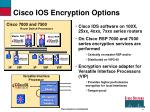 cisco ios encryption options
